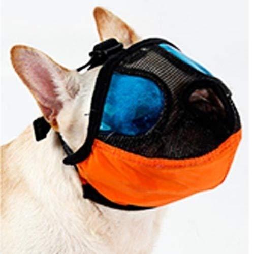 Qiuge Hund Mundschutz Einstellbare Kurz Mund Flache Nase-Haustier Hund Maulkorb Maulkorb Anti-Biss Barking Bequeme Tarnung, M, Ausschnitt Größe: 28-48cm (orange) (Color : Orange)