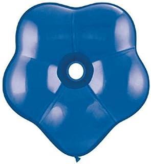 Qualatexラテックスバルーン37809-q Geo blossom-sapphire、16インチ、ブルー