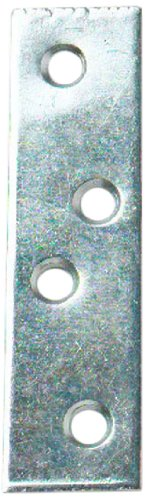 Merriway BH01142 Zinc Plated Straight Repair Brackey Braces Plates, 75 mm (3 inch) - Pack of 10