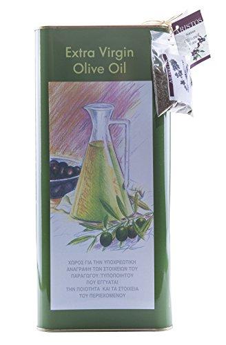 ARISTOS Premium Olivenöl 5 Liter   Extra Nativ Koroneiki   Eigenanbau in Bio-Qualität   Griechenland