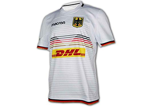 Macron DRV Deutschland Away Rugby Shirt weiß Germany Rugby Trikot Fan Jersey, Größe:XXL