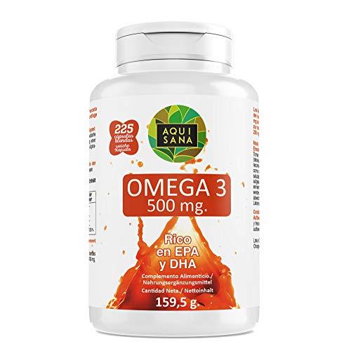 Omega 3-Aquisana | Voedingssupplementvoorvisolie | Allergenen: vis 225 capsules | DHA