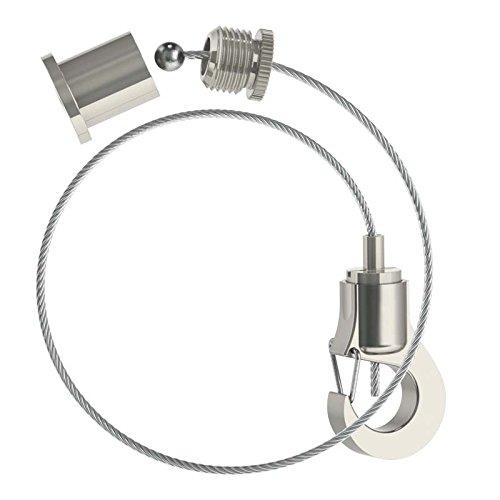 Abhängeset mit kleinem Haken-Gripper Ø 1,0mm / Drahtseil Länge: 2500mm