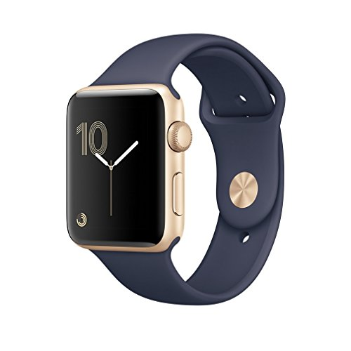 Apple Series 2 42mm Smart Watch (Gold Case, Midnight Blue Band)