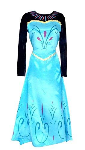 Inception Pro Infinite Größe S - Kostüm Krönung ELSA - Frau - Mit Umhang - Verkleidung - Karneval - Halloween - Cosplay - Prinzessin - Frozen