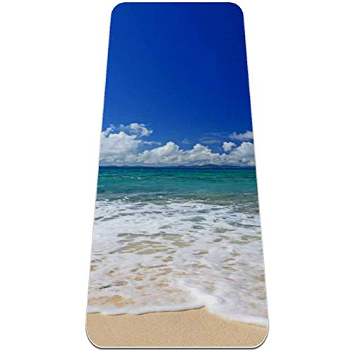 Tappetino Yoga Mat Antiscivolo Professionale – Vista del cielo della spiaggia...