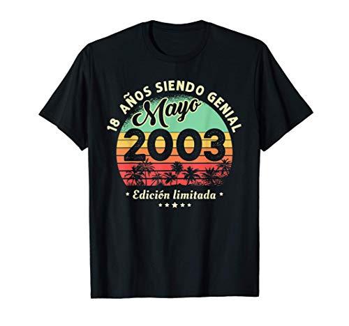 18 Años Cumpleaños Leyendas nacen en Mayo De 2003 Regalo Camiseta