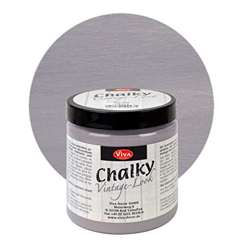 Viva Decor® Chalky Vintage-Look (250 ml, Mauve) dekorative Lasur - Vintage Kreidefarbe für Shabby Chic - Chalk Paint für Innen und Außen - Made in Germany