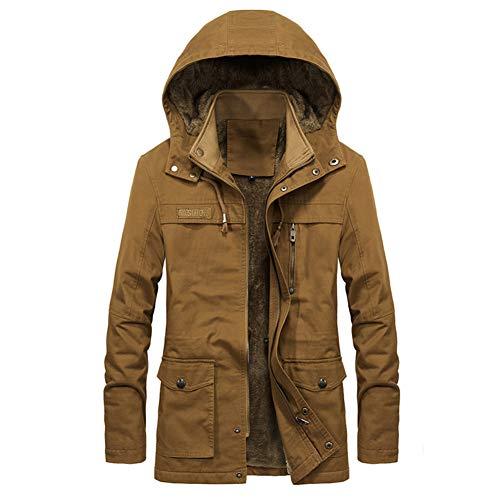 NXLWXN winterjas heren parka gevoerd katoenen mantel met bontkraag jas warm outdoor jas met capuchon met bont.