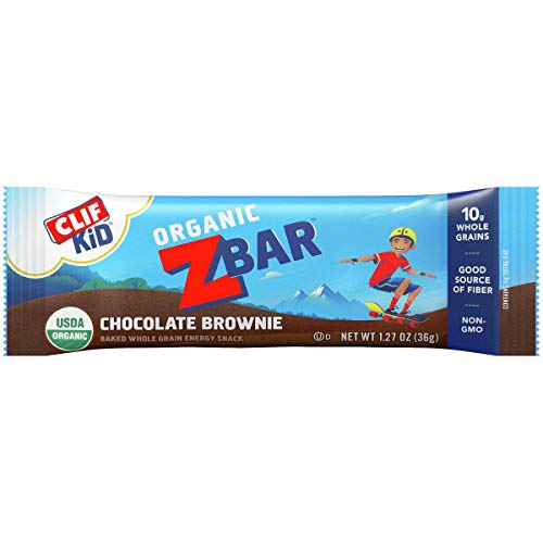 Clif Bar Clif Z Bar Chocolate Brownie, Box of 18,1.27 OZ/36 G PER BAG