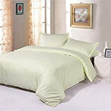 Cream King Size 260 x 280 cm Hotel Linen Bedding Set - 3 Pieces