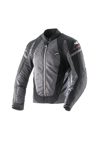 Clover Herren Motorradjacke, Schwarz, L