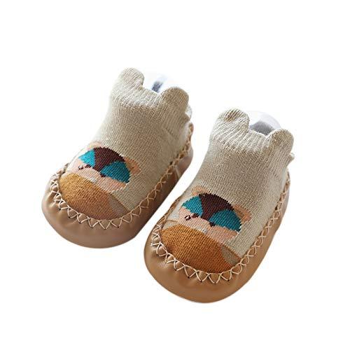 Baby Socks Leather Unisex 12-24 Months Cartoons Short Tube Non-Slip Toddler Sock Children Baby Footwear