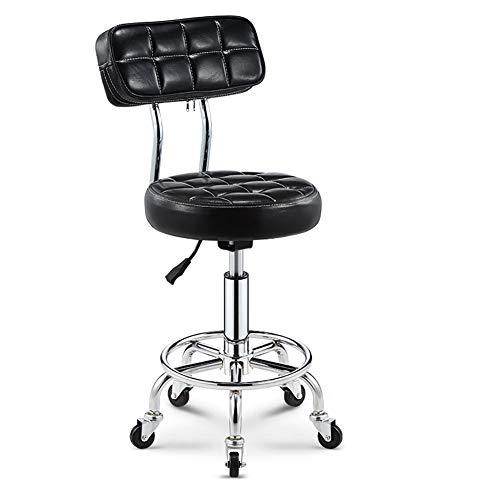 MG-GRD Silla giratoria Taburete de Oficina Salón de Belleza Taburete Taburete médico Taburete Ajustable, Altura Ajustable, Rueda, rotación de 360 Grados,Black