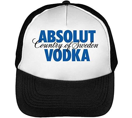 Absolut Vodka Logo Gorras Hombre Snapback Beisbol Negro Blanco One Size