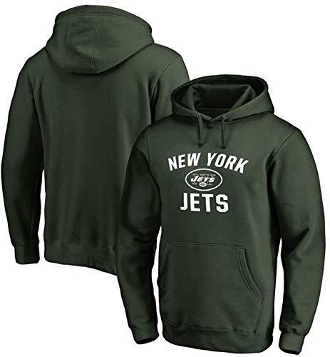 Funnyy Sudadera Unisex, con Capucha, New York Jets de Entrenamiento de Rugby Juego de los Hombres del suéter de otoño Nueva Jersey Cuello Alto con Capucha Larga de la Manga de la Camiseta Jersey