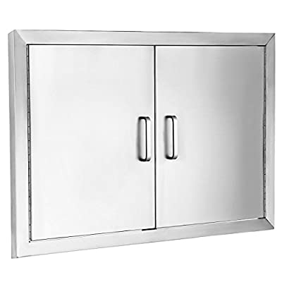 "SHZOND 31"" Wx24 H BBQ Access Door 304 Stainless BBQ Island Door Heavy Duty Double Door Flush Mount Great for Outdoor Kitchen"