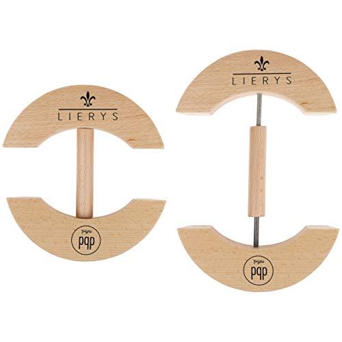 Lierys Hutspanner/Capspanner - Hutausweiter aus Holz - Hutstretcher für Hutweiten von 55 bis 66 cm verstellbar - Made in Germany - Hüte und Caps in Form halten und Wieder in Form bringen