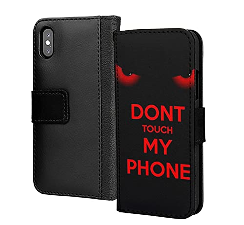 Dont Touch My Phone Angry PU Cartera de cuero en la cubierta de la caja del teléfono de la tarjeta para Huawei P40