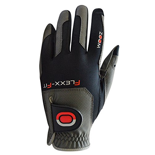 ZOOM WEATHER Flexx Fit Herren Golfhandschuhe Linkshand (Schwarz)
