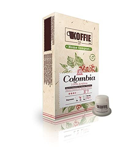 Koffie Cup Colombia 40 Cápsulas compostables de café compatibles con máquinas Nespresso® original line. Receta Colombia. Total 40 cápsulas (4x10cáps)