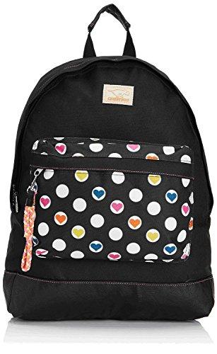 Rocket Dog Olive Casual Daypak Rucksack / Backpack for teenage girls in Black with Love Spots