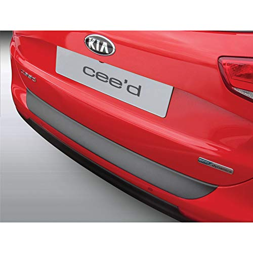 Protection de seuil arrière (ABS) compatible avec Kia Cee'd Sporty Wagon 9/2012- Noir