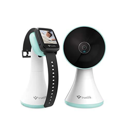 TrueLife NannyWatch A15 Babyphone in der Armbanduhr, Kabelloser Babyphone Video Monitor mit LCD-Display, Reichweite bis zu 300 m, Beidseitiges Audio, Lange Betriebszeit der Batterie