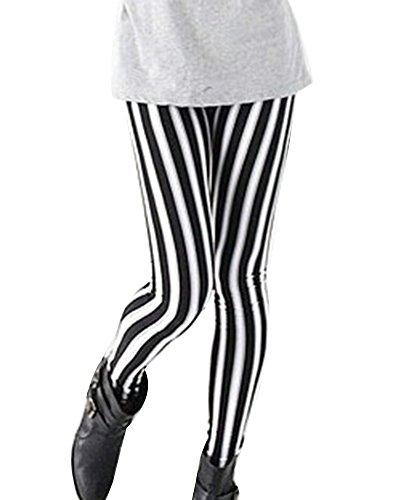 Guiran Leggings Skinny Pantalones Lápiz Elásticos Pantalón A Rayas Largo Pants Leggins para Mujer