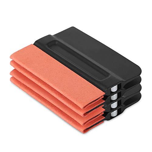 GISSVOGEEK Car Window Film Tinting Tools, Vinyl Wrap Kit, Auto Window Tint Kit 4 Pack Magnet Felt Squeegee/Window Tint Squeegee/Film Squeegee/Vinyl Squeegee