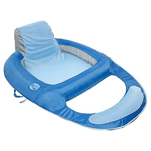 Kelsyus Floating Lounger Pool Float , Blue, 56 L x 38 W x 16 H