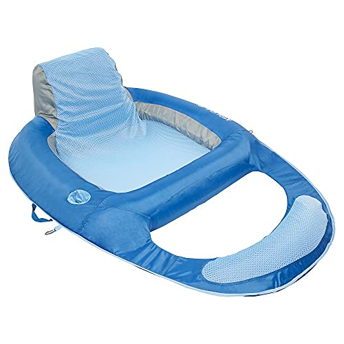 Kelsyus Floating Lounger Pool Float , Blue, 56'L x 38'W x 16'H