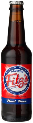 """Fitz's ROOT BEER OF St. LOUIS - """"From the hometown bottling company"""", 12-Ounce Glass Bottle (Pack of 12)"""