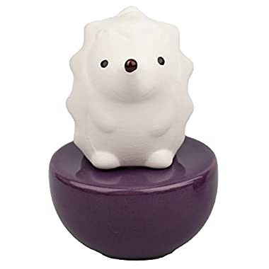 Easy_company Ceramic fragrance diffuser for aromatherapy and decorate your place.Spiky Hedgehog(Purple vase)