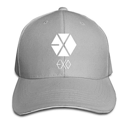 Lucyhu Verstellbar Damen Herren Exo Logo Logo Gray Baseball Hat Cap Baseballcap Kappe Flatbrim Mütze Für Jungen Mädchen