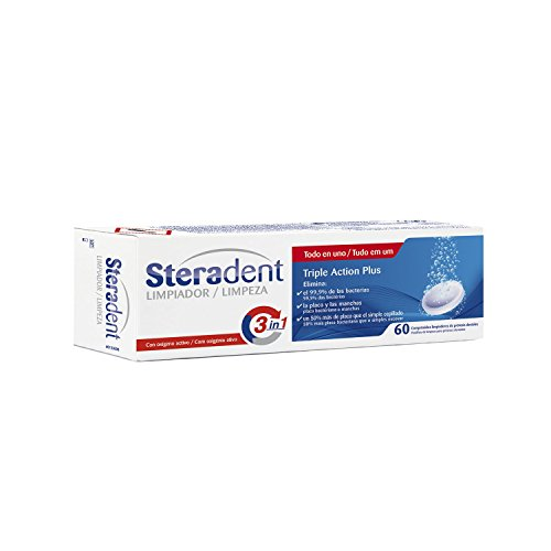 Steradent triple Action Plus Tandprothesenreiniger - 60 tabletten