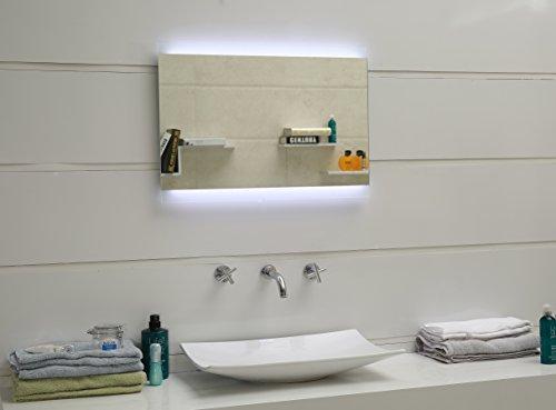 Design Badspiegel mit LED-Beleuchtung GS043N Lichtspiegel Wandspiegel Tageslichtweiß IP44 (80 x 60 cm)