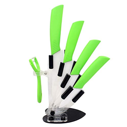Best Quality colorful 3 4 5 6 inch holder peeler kitchen ceramic knife sets chefs porcelain Zirconia ceramic knives stand for cooking
