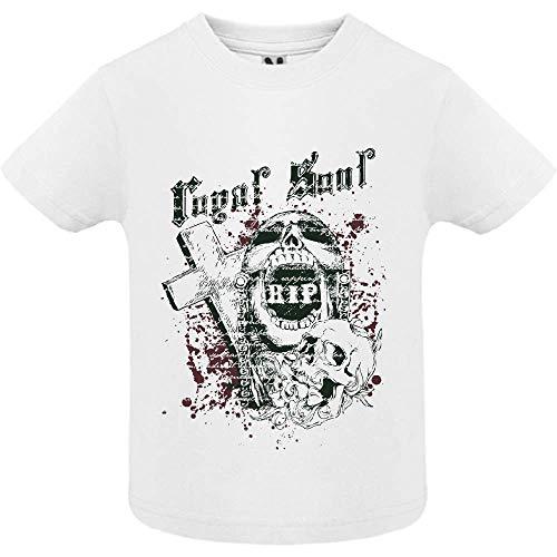 LookMyKase T-Shirt - Royal Soul 2 - Bébé Garçon - Blanc - 12mois