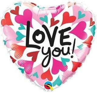 بالون كوالتكس من الفويل 45.72 سم بعبارة Love You Converging Hearts
