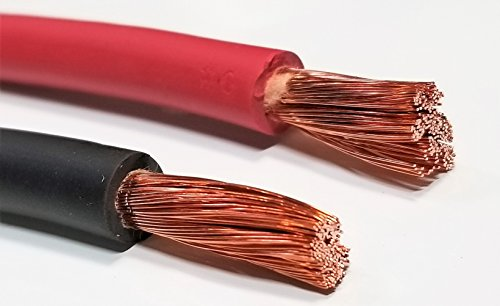 Made In The USA Inverter RV Solar WNI 4//0 Gauge 10 Feet Black 10 Feet Red 4//0 AWG Ultra Flexible Welding Battery Copper Cable Wire Car