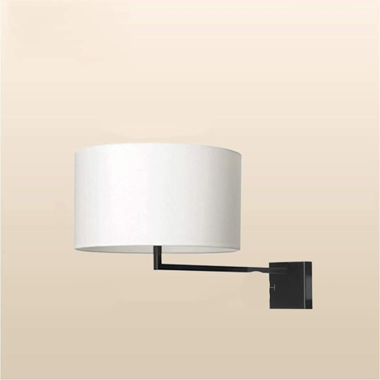 WENYAO Einfache Stoff Moderne Wohnzimmer Schlafzimmer Nachttischlampe American Creative Korridor der Korridor Wandleuchte-C
