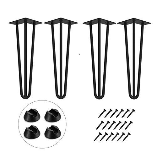 Haarnadel Tischbein 4x Hairpin Leg Möbelbein Haarnadelbeine aus Metall Tischzubehör DIY für Esstisch Couchtisch Schreibtisch