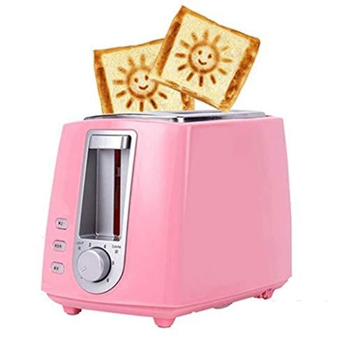 STRAW 600W Pequeño Pan Tostadora automática rápida Calefacción Máquina Breakfast Sandwich Hornear Electrodómesticos (Color : Pink)