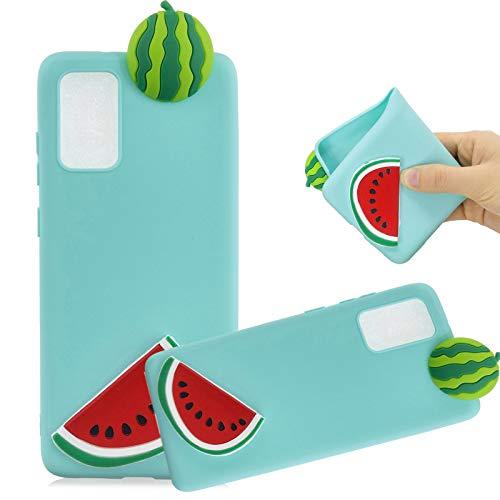 TPU Hülle für Samsung Galaxy S20 FE,Weich Silikon Hülle für Samsung Galaxy S20 FE,MOIKY Komisch 3D Wassermelone Entwurf Ultra Dünnen Scratch Resistant Soft Rückseite Abdeckung Handyhülle