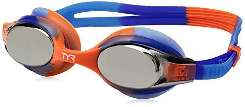 TYR Kids Swimple Tie Dye Googles, Clear/Blue/Orange, One Siz