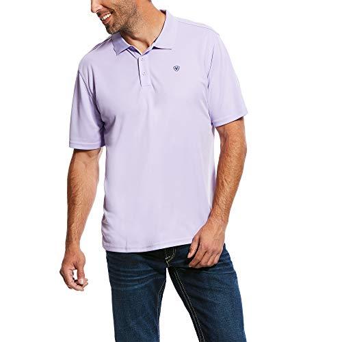 ARIAT Men's Tek Polo T-Shirt Haze Drift Size Large