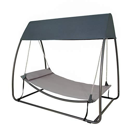 Sunnyglade 7.6'L x 4.5'W x 6.7' Swing Hammock Canopy Swing Hanging Bed for Backyard,Garden, Patio, Porch, Dark Grey