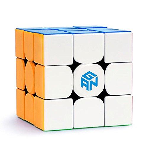 ROXENDA GAN 354 M Speed Cube, Cubo de Magnético Profesional Stickerless 3x3 GAN Cube - Giro Fácil y Juego Suave - Más Rápido y Más Preciso Que el Original (GAN 354 M)