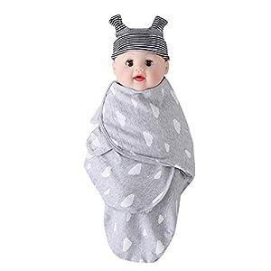 ZEVONDA Baby Swaddle Wrap Manta Envolvente Saco-s De Dormir Bebe,Saco de Dormir para bebé,Bebés Saco de Dormir de…